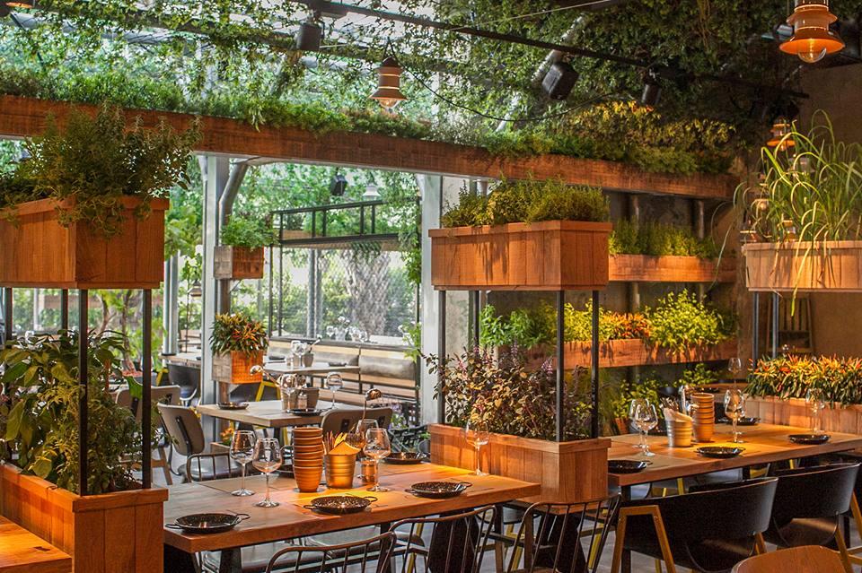 מסעדה בתוך משתלה