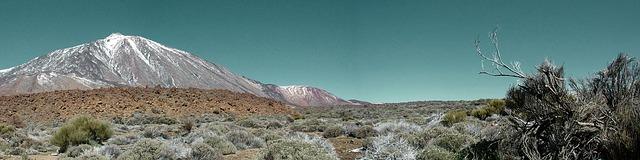 תמונה פנורמית של הר טיידה