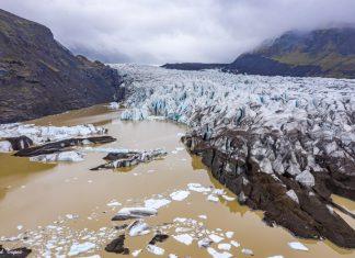 לגונת הקרחונים באיסלנד Svinafelljokull