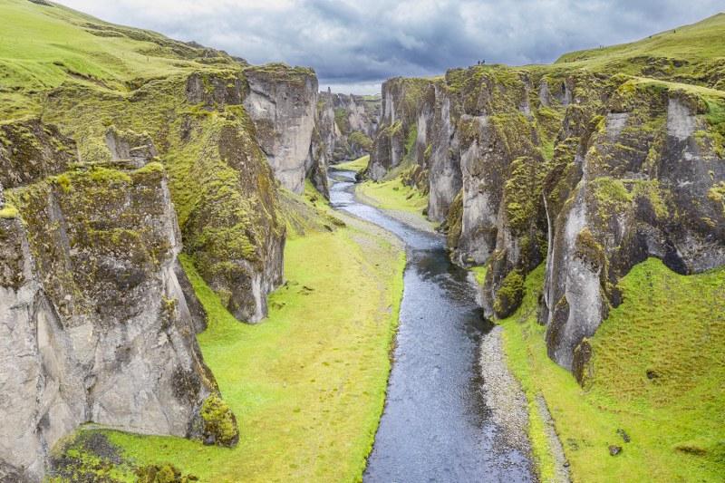 Fjaðrárgljúfur canyon קניון פיאד'רארגליופור שבאיסלנד