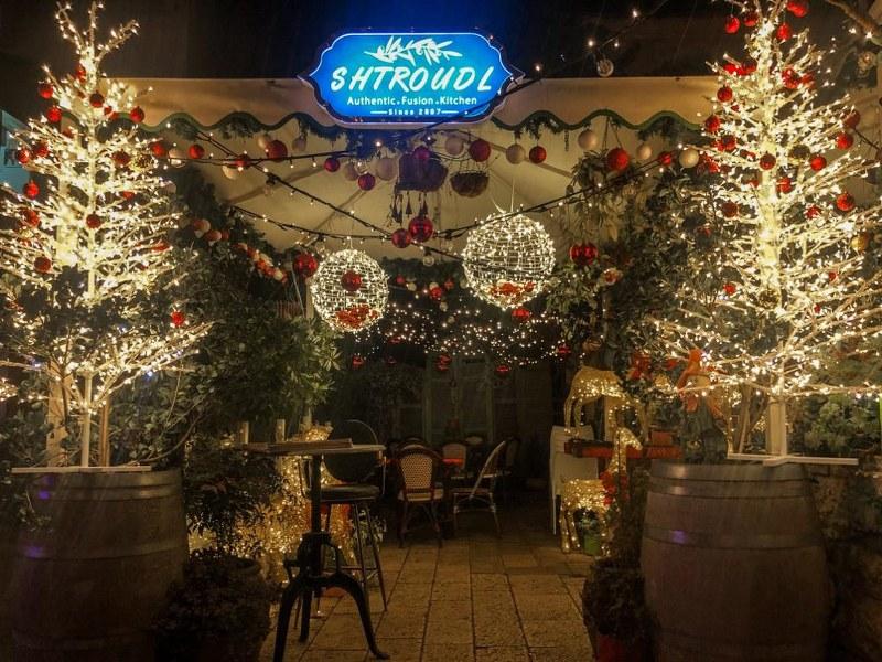 כריסמס בחיפה במסעדת שטרודל המקושטת