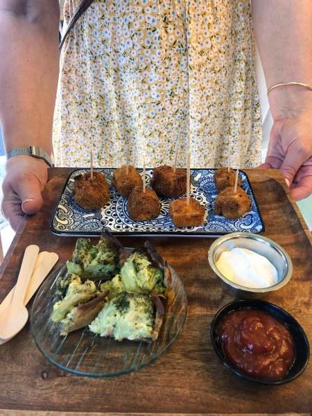 אוכל טבעוני בשוק תלפיות חיפה