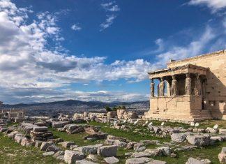 האקרופוליס באתונה בחורף