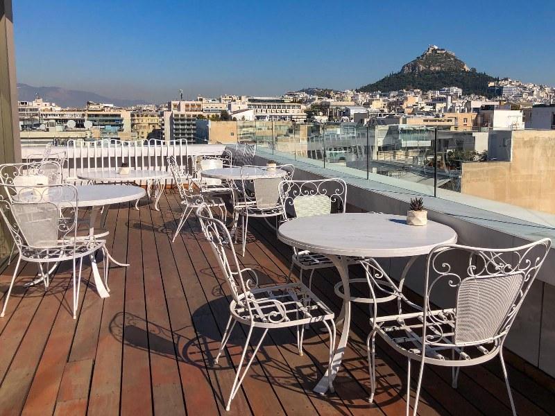 גג מלון באתונה new hotel