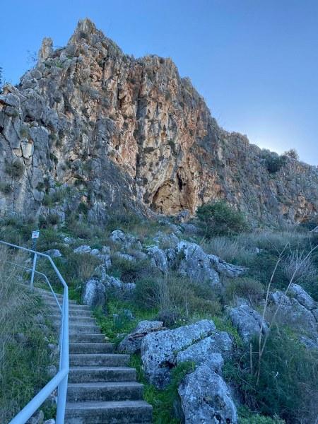 מסלול טיול בנחל מערות